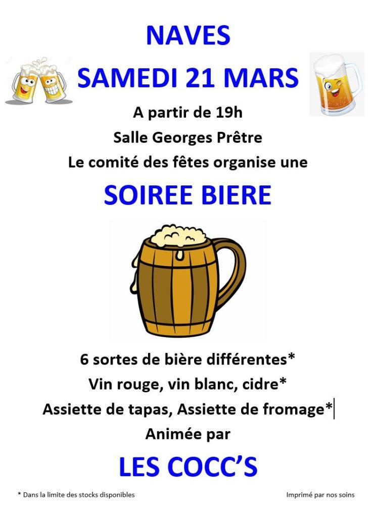 Reportée au 19 septembre 2020 / Samedi 21 mars 2020 – Soirée Bière