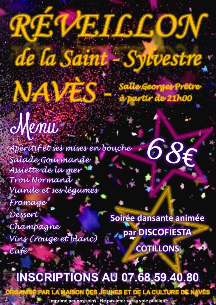31 décembre 2018 : Réveillon de la Saint-Sylvestre