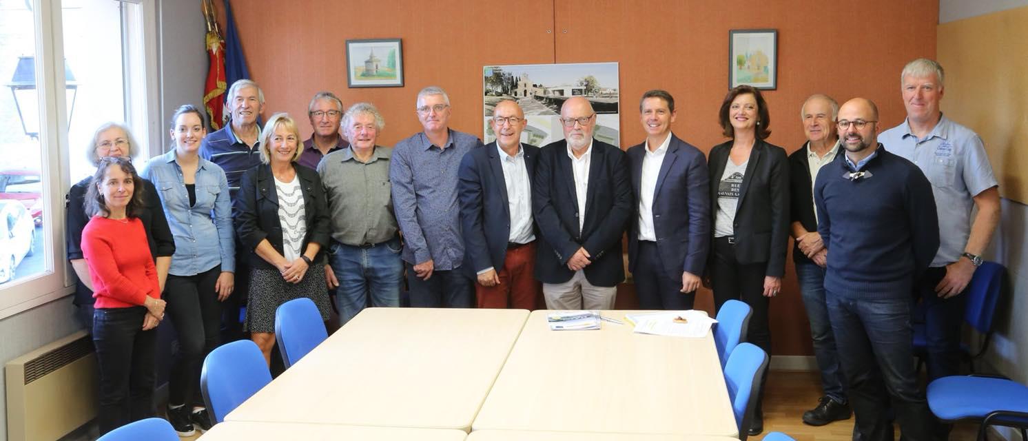 Mardi 2 octobre 2018 : Visite du Président du Conseil Départemental à Navès