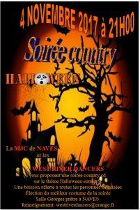 Samedi 4 novembre 2017 à 21h – Soirée Country Halloween