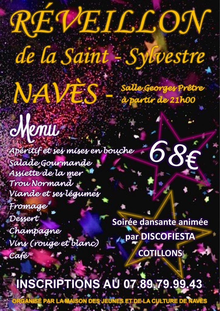 31 décembre 2017 : Réveillon de la Saint-Sylvestre