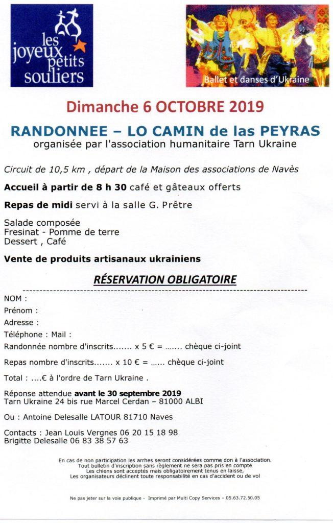Dimanche 6 octobre 2019 – Randonnée Lo Camin de las Peyras